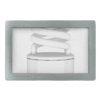 Fluorescent light bulb rectangular belt buckles