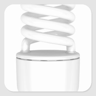 Fluorescent light bulb square sticker