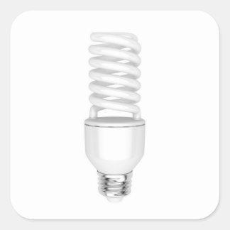 Fluorescent light bulb square sticker