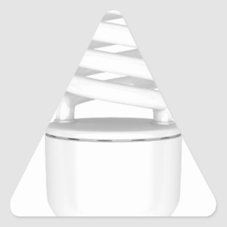 Fluorescent light bulb triangle sticker