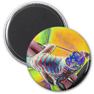 Fluorescent Lizard 2 Inch Round Magnet