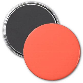Fluorescent Orange Apricot Neon Personalized 3 Inch Round Magnet