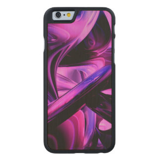 Fluorescent Passions Abstract Carved® Maple iPhone 6 Case