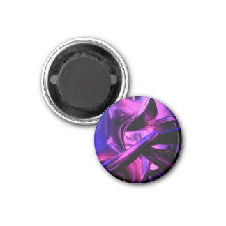 Fluorescent Passions Abstract Refrigerator Magnets