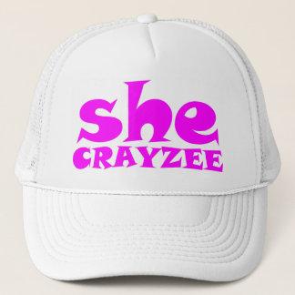 Fluorescent Pink She Crayzee Trucker Hat