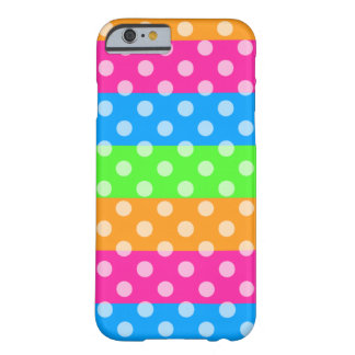 Fluorescent Rainbow with Polka Dots Barely There iPhone 6 Case