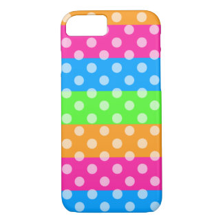 Fluorescent Rainbow with Polka Dots iPhone 7 Case