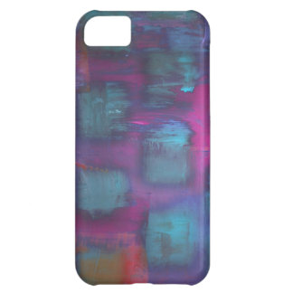 Fluorescent squares in purple and blue pattern iPhone 5C case
