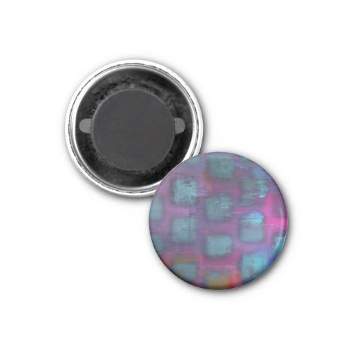 Fluorescent squares in purple and blue pattern magnets