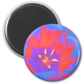 Fluorescent Tulip Magnet