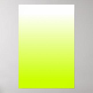 Fluorescent Yellow Gradient Poster