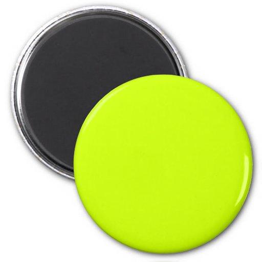 Fluorescent Yellow Refrigerator Magnet