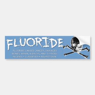 Fluoride Bumper Sticker - Light Blue