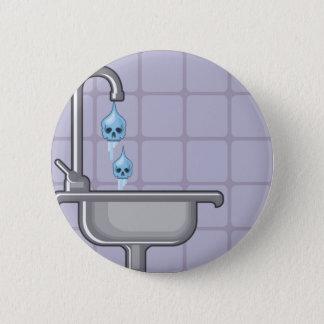 Fluoride water poison 2 inch round button