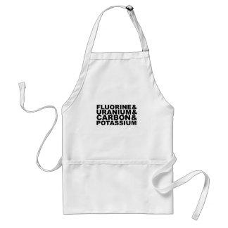 Fluorine Uranium Carbon Potassium Tshirt L.png Standard Apron