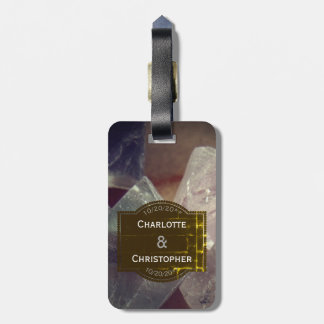 Fluorite Gemstone Honeymoon Suitcase Tag