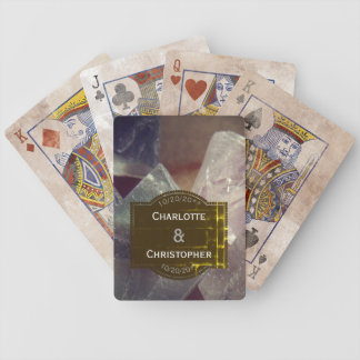 Fluorite Gemstone Personalized Wedding Bicycle Playing Cards
