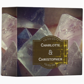 Fluorite Gemstone Personalized Wedding Binder
