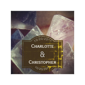 Fluorite Gemstone Personalized Wedding Canvas Print