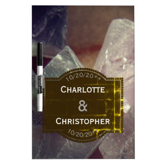 Fluorite Gemstone Personalized Wedding Dry Erase Board