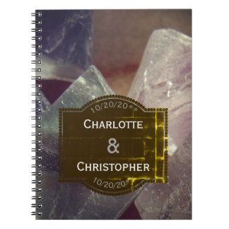 Fluorite Gemstone Personalized Wedding Journal