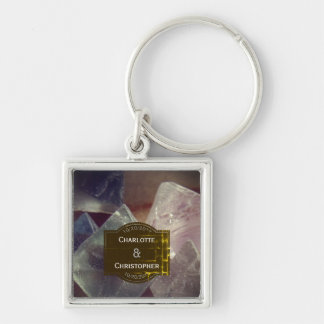 Fluorite Gemstone Personalized Wedding Keychain