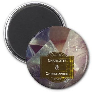 Fluorite Gemstone Personalized Wedding Magnet