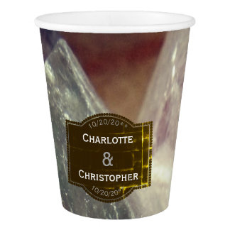 Fluorite Gemstone Personalized Wedding Paper Cup