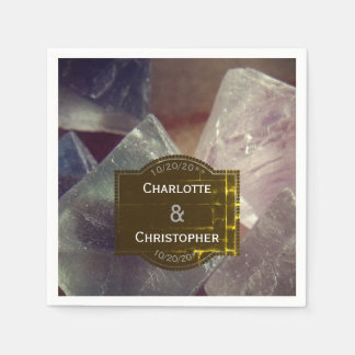 Fluorite Gemstone Personalized Wedding Paper Napkins