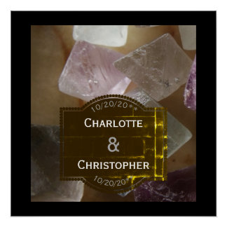 Fluorite Gemstone Personalized Wedding Poster
