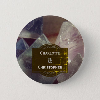Fluorite Gemstone Wedding favour button