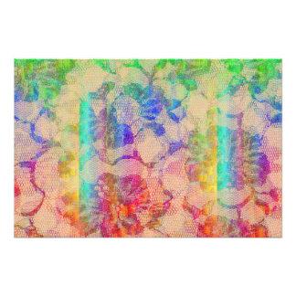 Fluoro Lace Roses Art Photo