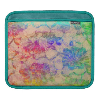 Fluoro Lace Roses iPad Sleeve