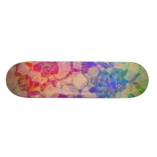 Fluoro Lace Roses Skateboard Deck
