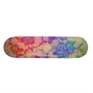 Fluoro Lace Roses Skateboards