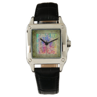 Fluoro Lace Roses Watch