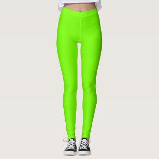 Fluoro Lime-Green Leggings
