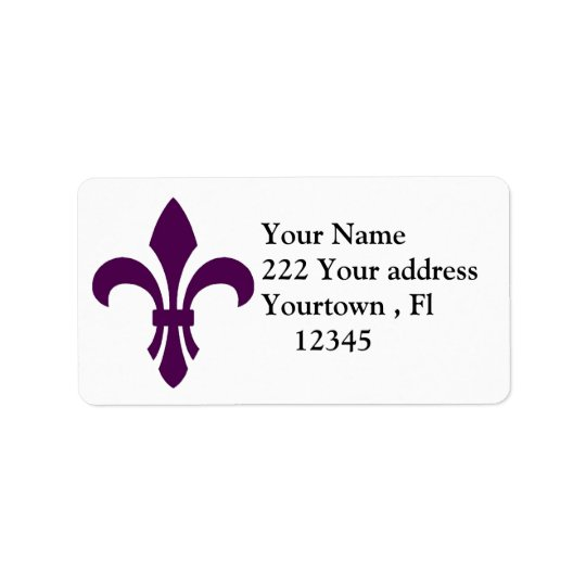 Flur-de-lis  Address Label