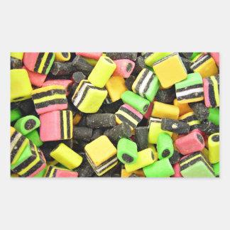 Fluro-coloured liquorice sticker