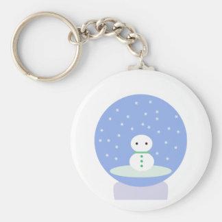 Flurrball Snow Globe Basic Round Button Keychain