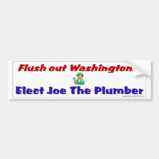 Flush out Washington Bumper Sticker