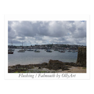 Flushing / Falmouth by OllyArt Photography Postcard