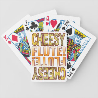 Flute Blue Cheesy Poker Deck