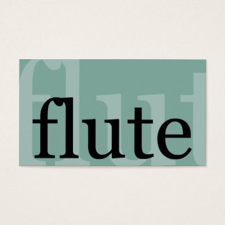 Flute Business Card