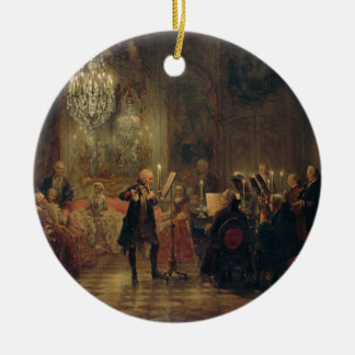 Flute Concert with Frederick the Great Sanssouci Round Ceramic Ornament