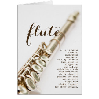 Flute definition Greeting Card
