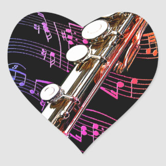 Flute is my Passion_ Heart Stickers
