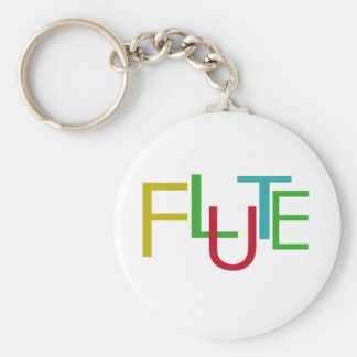 Flute Letters Keychain