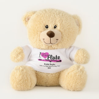 Flute Love Custom Marching Band Bear