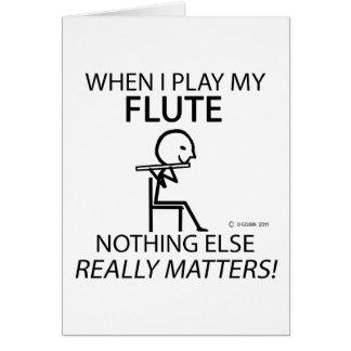 Flute Nothing Else Matters Card